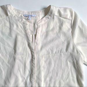 Alfred Sung long sleeve eggshell blouse